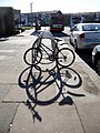 Bicycle racks, Oakwood Station, London N14 - geograph.org.uk - 1741548.jpg