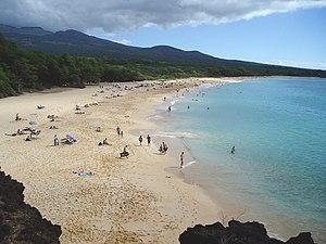 "Makena, Hawaii - Makena State Park, ""Big Beach"" side."