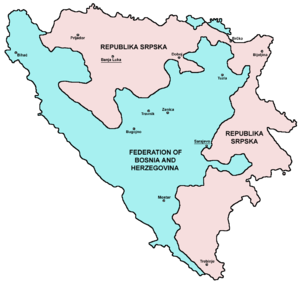 Dayton Agreement - Political division of Bosnia and Herzegovina after the Dayton Agreement.