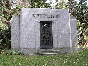Billy Rose - Billy Rose's mausoleum in Westchester Hills Cemetery