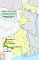 Birsa Munda Express (Jhargram - Purulia) Route map.png
