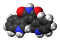 Space-filling model of the bisindolylmaleimide molecule