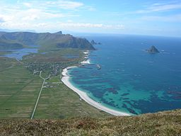 Bleik village and Bleik island, seen from Mount Royken.jpg