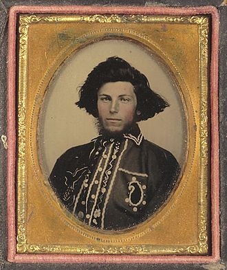 William T. Anderson - Anderson in an ambrotype photograph, c. early 1860s.