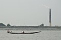 Boat and Chimney - River Ichamati - Hasnabad - North 24 Parganas 2015-01-13 4512.JPG