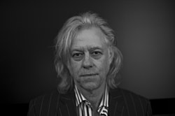 Bob Geldof in the Belvedere, Vienna - B&W photographic portrait by Alfred Weidinger - 16 Sept. 2012