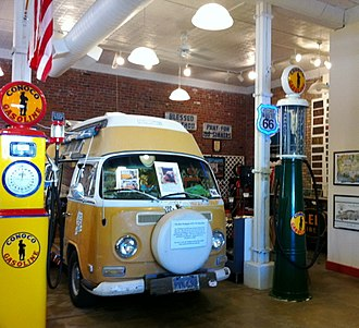 Pontiac, Illinois - Bob Waldmire's van, inspiration for Fillmore (Cars), on display in the Route 66 Hall of Fame in Pontiac.