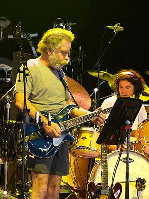 Bob Weir - Weir and Jay Lane on stage with RatDog in 2009.