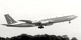 De betreffende Boeing in april 1960