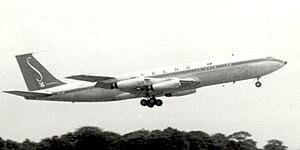 Sabena Flight 548 - Sabena Boeing 707-329 in April 1960, (a sistership)