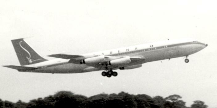 Boeing 707-329 Sabena short fin 1960