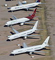 Boeing 767s - Pinal Air Park (13806702844).jpg