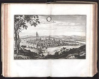 Louny - Louny ca. 1612; engraving by Matthäus Merian