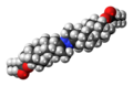 Bolazine caproate molecule spacefill.png