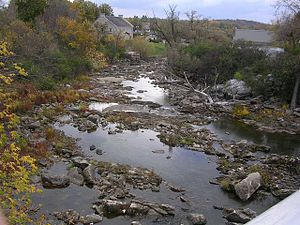 Bonnechere River - Bonnechere River in Renfrew with low water level
