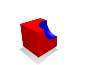 Constructive solid geometry - Difference Subtraction of one object from another