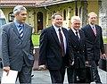 Boris Tadić, William D. Montgomery and Kurt Leonberger at the George C. Marshall Center, 2003.jpg