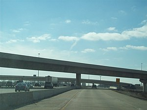 Interstate 94 in Indiana - Borman Expressway three-level interchange at Cline Avenue
