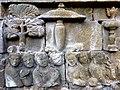 Borobudur - Divyavadana - 065 W, King Bimbisara receives King Rudrayana's Letter (detail 1) (11706671713).jpg