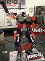 BotCon 2011 - Hasbro KRE-O booth Optimus Prime statue (5802062347).jpg