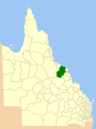 Shire of Bowen - Location within Queensland