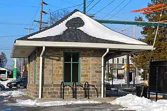 Providence Road station (SEPTA Route 101) - Image: Bowling Green St Media PA