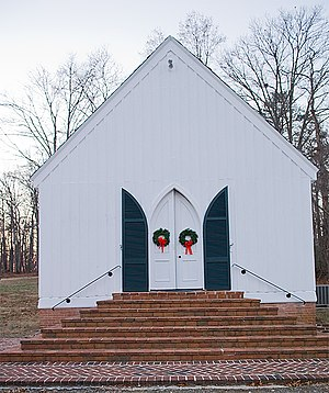 National Register of Historic Places listings in Fluvanna County, Virginia - Image: Bremo slave chapel