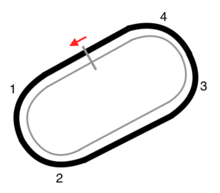 Map of the Bristol Motor Speedway