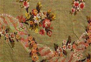 Brocade - Silk brocade fabric, Lyon, France, 1760-1770.