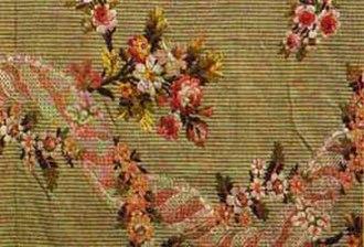 Brocade - Silk brocade fabric, Lyon, France, 1760-1770.