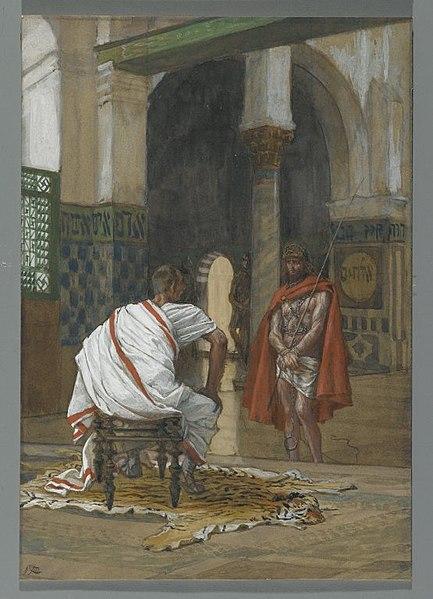 File:Brooklyn Museum - Jesus Before Pilate Second Interview (Jésus devant Pilate. Deuxième entretien) - James Tissot.jpg