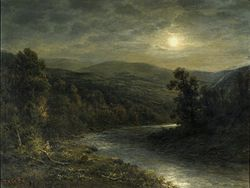 Moonlight on the Delaware River de Thomas B. Griffin (1858–1918)