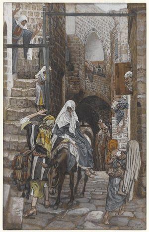 Saint Joseph Seeks a Lodging at Bethlehem by James Tissot - Brooklyn Museum - Saint Joseph Seeks a Lodging in Bethlehem (Saint Joseph cherche un gîte à Bethléem) - James Tissot - overall