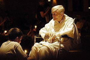 Taizé Community - Brother Roger, founder of the Taizé Community, shown at prayer in 2003