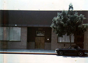 Brother Studios - The front of Brother Studios in the mid-1970s. The front door was not used for access, the back alleyway was the preferred entrance.