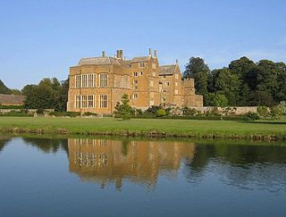 Broughton Castle medieval manor house in Oxfordshire, England