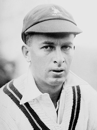 Bruce Mitchell, who scored 3,471 Test runs, at that time a national record Bruce Mitchell cricketer 1935.jpg