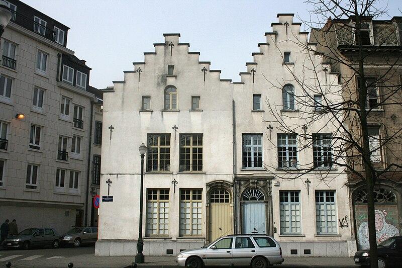Bruselas: Casas burguesa, quai au Bois de Construction (muelle del madera de construcción)