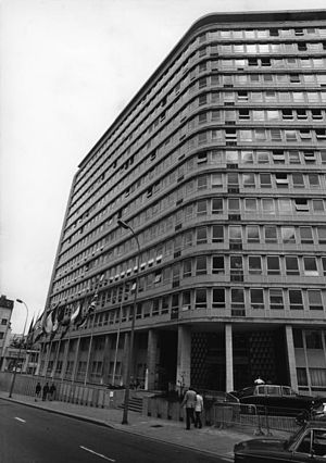 Brussels and the European Union - The Charlemagne building (before renovation), headquarters of the Council between 1971 and 1995