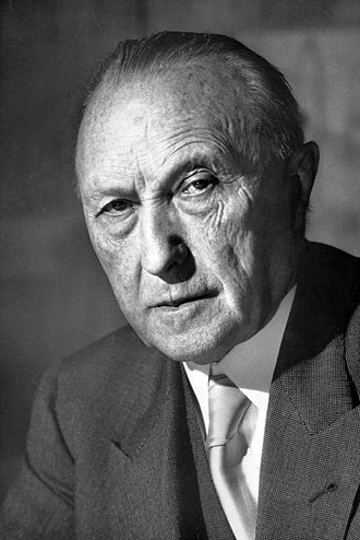 Founding fathers of the European Union - Image: Bundesarchiv B 145 Bild F078072 0004, Konrad Adenauer