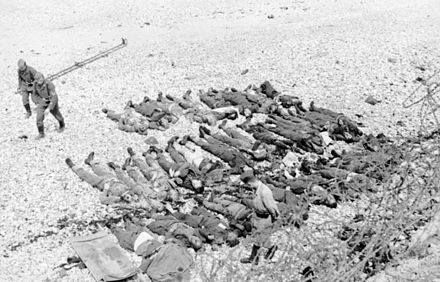 Canadian and British dead at Dieppe, August 1942 Bundesarchiv Bild 101I-291-1230-05, Dieppe, Landungsversuch, tote alliierte Soldaten.jpg