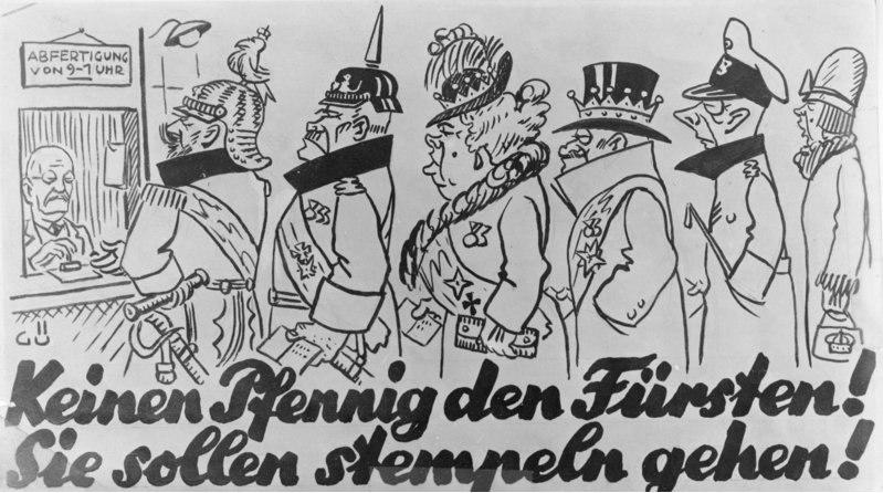 Bundesarchiv Bild 146-1982-092-25, Plakat gegen Fürstenabfindung