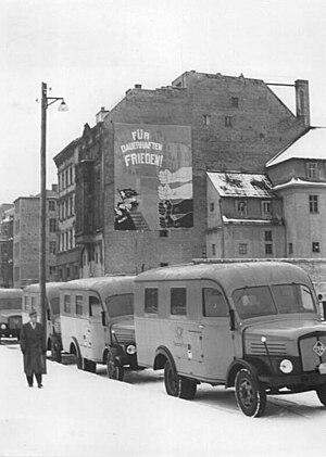 Deutsche Post of the GDR - New post office vans in 1952