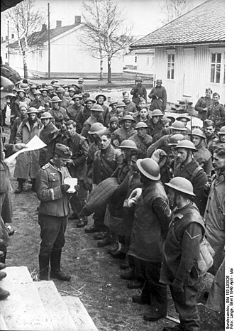 Namsos Campaign - British PoWs in Trondheim April 1940.