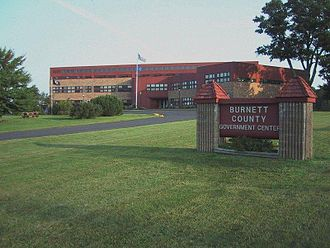 Burnett County, Wisconsin - Image: Burnett County Government Center 2004