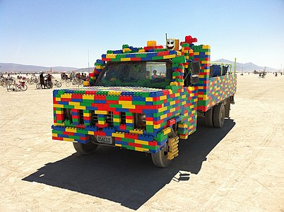 Burning Man 2011 Victor Grigas Lego Car IMG 4648.JPG