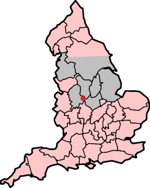 Battle of Burton Bridge (1322) - The location of the battle.  The map shows Thomas's possessions in grey, Edward's in pink.
