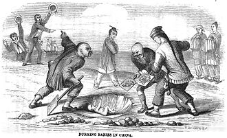 Infanticide - Burying Babies in China (p.40, March 1865, XXII)