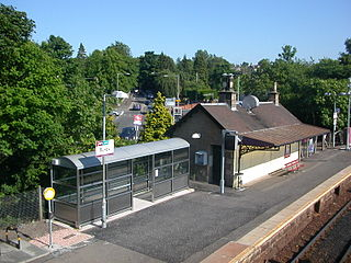 Busby railway station railway station in East Renfrewshire, Scotland, UK