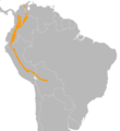 Buthraupis montana distribution map.png